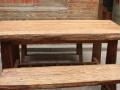 私人订制榻榻米实木与铁艺结合桌椅