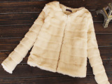 秋冬季女新款欧美范时尚百搭皮草外套名媛高贵气质小外套女短外套