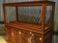 鄂尔多斯鱼缸 实木雕花鱼缸 高档水族箱