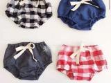 现货2015夏男宝宝女宝宝小童婴幼儿棉麻梭织面包裤可爱三角短裤