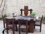定制家具老船木实木家具博古架办公茶台阳台简约现代茶桌茶水柜