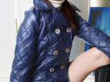特价清仓批发冬装女装大码经典菱格棉衣棉服冬装小棉袄季短外套女