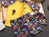厂家直销原创 亲子泳衣家庭装卡通儿童泳衣