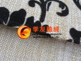 高档植绒布料 亚麻植绒布料 沙发布料面料 仿麻植绒布料面料植绒