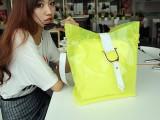 2014新款时尚潮韩版女包荧光色沙滩果冻包糖果色斜跨包