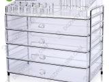 批发高透明有机玻璃收纳盒 四抽式金属框架化妆品整理盒 有现货