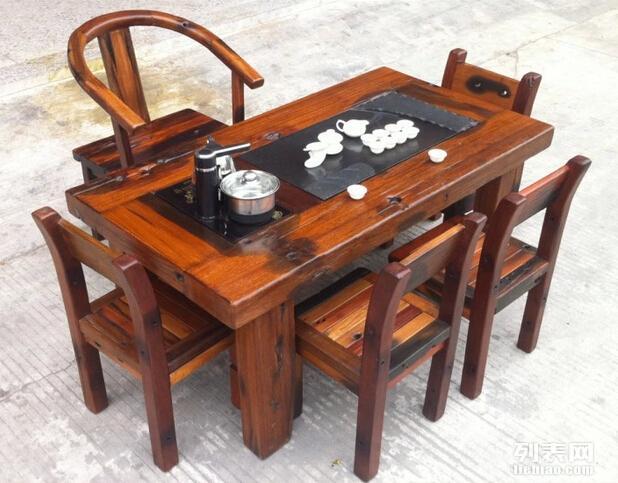 老船木茶桌 泡茶艺桌椅组合实木功夫茶几 厂家批发