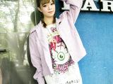2014秋季新款 韩版大码女装毛呢短外套 宽松女士小外套上衣