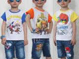 儿童牛仔裤男童牛仔中裤宝宝五七分童裤新款夏装男童装 一件代发