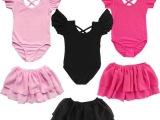 女童蝴蝶袖练功服幼儿体操芭蕾舞服吊带演出夏考级服  一件代发