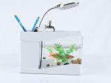 爆款厂家批发 迷你鱼缸 LED桌面装饰 USB水簇箱 迷你鱼缸