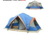 户外野营自动帐篷 双层多人速开露营帐篷 5-8人两房超大帐篷