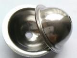 304不锈钢半圆球片 加厚帽型抛光球片