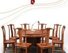 湖北武汉香港二木新中式红木实木手工定制家具客厅餐圆桌刺猬紫檀