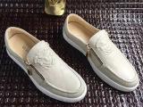 15欧美大牌春夏新款男鞋个性压花凸人头像双拉链休闲单鞋工厂代发