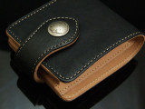 供应全手工植鞣皮钱包 BEAGLE比格 手缝一件代发批发新款