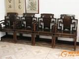 郑州二手红木家具回收交趾黄檀沙发卧房成套老红木餐台八仙桌收购
