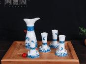 商务礼品,价格合理的步步高升青花陶瓷酒具上哪买