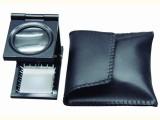 批发带灯手持放大镜   金属三折叠式照布镜  便携式  代理直销