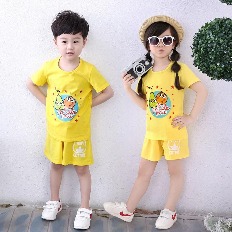新款夏季童装短袖套装运动短裤两件套6.9