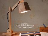 创意小狗实木台灯现代简约书房卧室床头灯具可折叠书桌灯