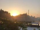 广州休多闲山庄渔观园,远山含黛,近水碧幽