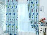 厂家直销儿童卡通遮光布印花窗帘卧室遮光窗帘布面料柯桥批发