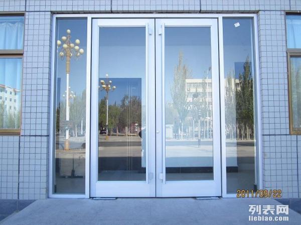 福州兄弟店面铝合金玻璃推拉门定制安装