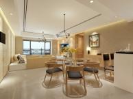 渝北中央公园大道大平层装修案例 现代极简风格设计方案效果图
