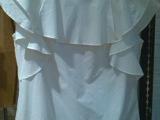 现货 2014夏新款女白色衬衣荷叶袖衬衫2142013300