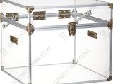 亚克力板定做加工透明大号整理箱 高档三件套收纳箱 酒店装饰柜