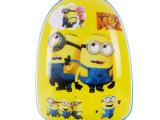 新款ABS儿童拉杆箱蛋壳卡通书包拉链旅行箱卡通行李箱多个小黄人
