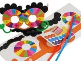 幼儿园手工自制玩具趣味眼镜diy儿童创意
