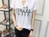 新款女装镂空款纯棉韩版女装短袖T恤
