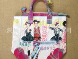 日本原单女士帆布包原宿娃娃单肩包度假休闲手提包大包包 配挂饰