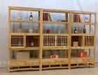 博古架多宝阁实木中式仿古客厅隔断置物古玩展示架榆木茶叶陈列架