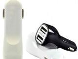 双USB2.1A鸭嘴车充 双USB车载充电器 手机平板车充