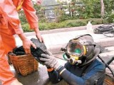 重庆水下安装作业,物品打捞管道疏通清淤