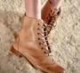 FRYE欧美真皮复古系带机车靴 英伦雕花车线低跟女短靴子 批发代发