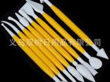 翻糖蛋糕工具 8pcs糖花造型工具(黄色) 雕刻组 塑性工具批发