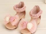 2014新款时尚夏季韩版童鞋 两朵花拉带女中大童公主鞋儿童鞋子