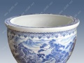 景德镇陶瓷鱼缸 园林装饰陶瓷大缸