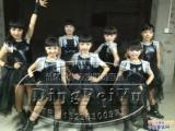 儿童街舞演出服装女黑色少儿现代舞蹈演出服儿童爵士舞表演服套装