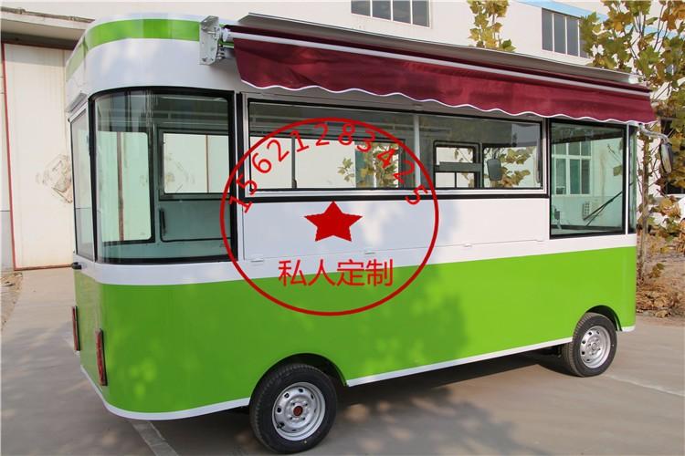 电动小吃车四轮餐车移动餐饮车多功能餐车电动四轮街景早餐车
