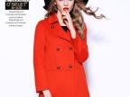 2015秋冬季新品女式羊毛呢外套时尚欧美高档大牌时尚女装羊绒大衣