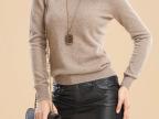 诚招代理批发女式秋冬新款羊绒衫女 圆领长袖毛衣女套头打底衫