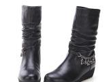 2013新款女式羊毛棉靴时尚真皮女靴子高档女鞋品牌广州女鞋可贴牌