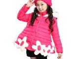 童装童棉衣2014秋冬款儿童棉服中大童韩版保暖海星棉袄女童外套