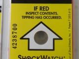 TILTWATCH防倾斜标贴物流运输防倾斜标签监测防震标签