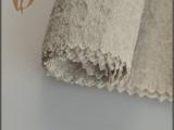 江苏工厂直销批发麻本色强肌理感凹凸不平纯色麻涤染色布/面料